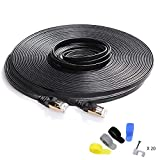 Best Ethernet Cable 100fts - Cat 7 Shielded Ethernet Cable 100 ft Black Review