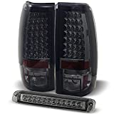 For 99-02 Chevy Silverado | 1999-2006 GMC Sierra Smoked LED Tail Lights + Smoked LED 3Rd Brake Lamps