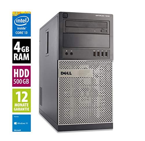 Dell Optiplex 7010 MT   Computer   PC   Intel Core i3-3240 @ 3,4 GHz   4GB DDR3 RAM   500GB HDD   DVD-Laufwerk   Windows 10 Home (Generalüberholt)