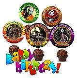 Crafting Mania LLC. 12 Nightmare Before Christmas Birthday Inspired Party Picks, Cupcake Picks, Cupcake Toppers #1