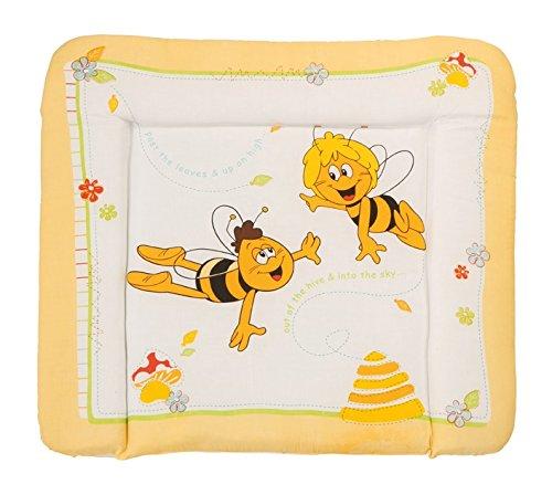 roba Wickelauflage \'Biene Maja\', weiche Wickelunterlage 85x75cm, Wickeltischauflage PU beschichtet