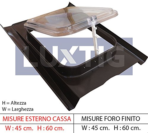 Lucernario Cupola - Modello 45x60 cm - Sottotetti non...