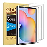 SPARIN 2 Pack Glass Screen Protector Compatible with Samsung Galaxy Tab S6 Lite 10.4 Inch 2020, S Pen Compatible, Scratch Resistant