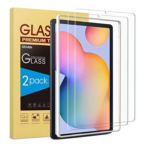 SPARIN Schutzfolie kompatibel mit Samsung Galaxy Tab S6 Lite 10.4 zoll, Panzerglasfolie mit Montagerahmen,2 Stück Bildschirmschutzfolie, 9H-Festigkeitglas
