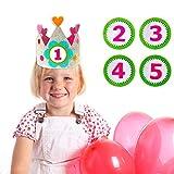 Gudotra Corona para Cumpleaños Infantiles Números del 1 al 5 Coronilla Decoración Regalo Cumpleaños para Niños