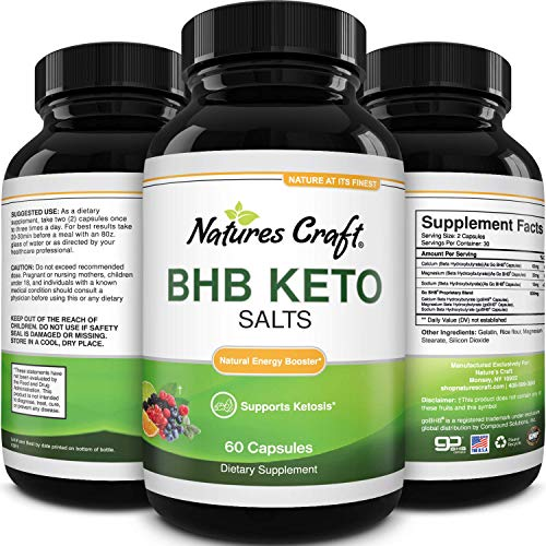 Keto BHB Exogenous Ketones Pills - BHB Keto Pills for Keto Management and Natural Energy Supplement - Replenishing Keto Pills with Natural BHB Ketones Calcium Magnesium Sodium Beta-hydroxybutyrate
