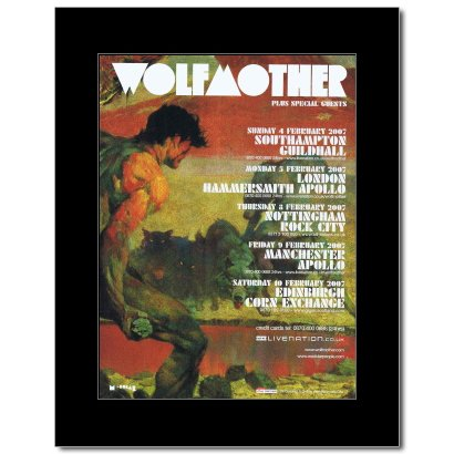 Music Ad World Mini-Poster, Motiv Wolfmother, UK Tour 2007, matt, 28,5 x 21 cm
