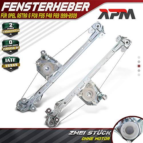 Frankberg 2X Fensterheber Ohne Motor Hinten Links und Rechts für Astra G CC Caravan Stufenheck F48_ F08_ F35_ F69_ 1998-2009 5140015