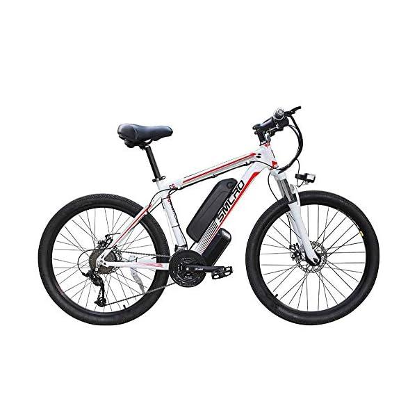 51+TvwWQiiL. SS600  - Elektro-Mountainbike-Smart-Bike Erwachsene 26-Zoll-Offroad Mountain Bike 48V Super Große Kapazität Ausdauer 50-70Km 350W-Brushless Motor