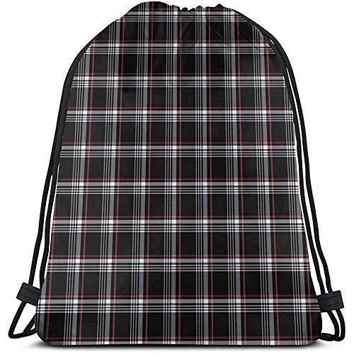 Drawstring Backpack Golf Gti Plaid 3D Print String Bag Sackpack Cinch Tote Bags Gifts For Women Men Gym Shopping Sport Yoga