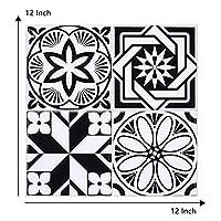 30.5x30.5cm 3Dモロッコスタイルの自己接着壁ステッカーセラミックタイルPVC階段壁紙デカールビニール壁画階段の装飾 (Color : T807, Size : 1pcs)