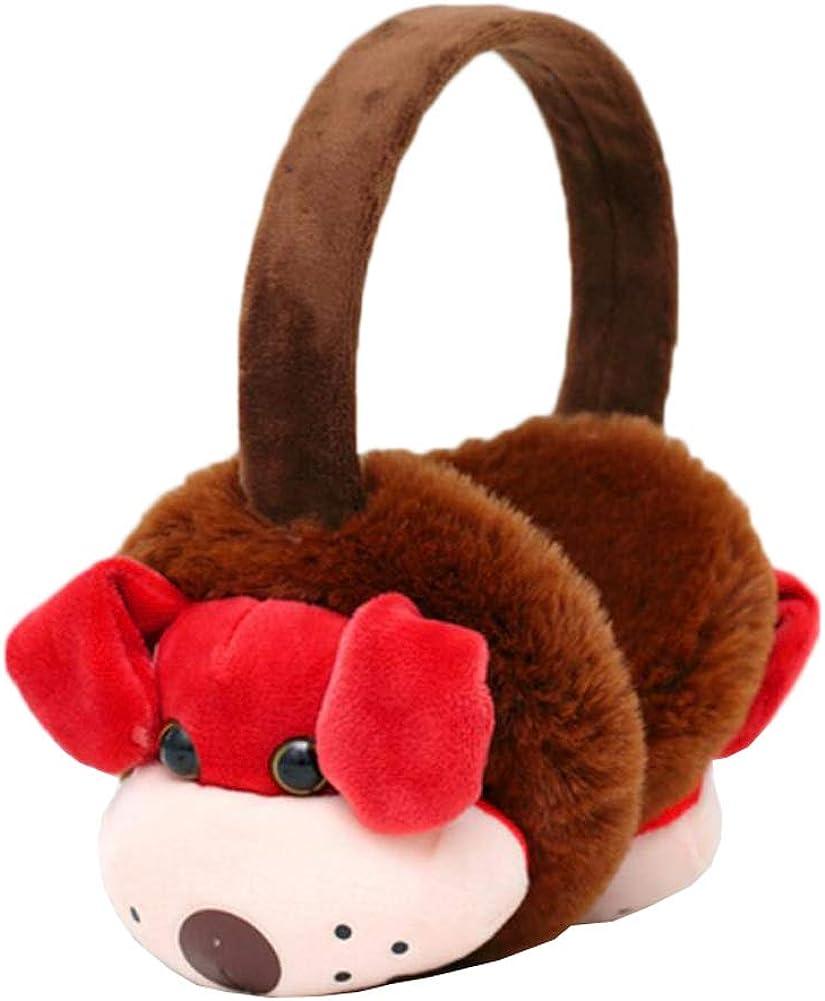 Cute Animal Soft Earmuffs Winter Warm Outdoor Ear Covers Headband Fur Ear warmer,#C14