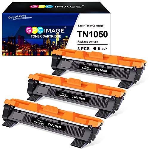 GPC Image TN-1050 kompatible für Brother TN1050 TN 1050 für Brother DCP-1510 DCP-1512 DCP-1612W DCP-1610W HL-1110 MFC-1910W MFC-1810 HL-1112 HL-1210W HL-1212W(3 Schwarz, 1000 Seiten)