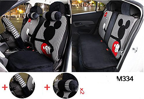 Maimai88 1 Sets The New Plush Cartoon Car Seat Cover The Front and Rear Universal Seat Covers (M328) (M334)