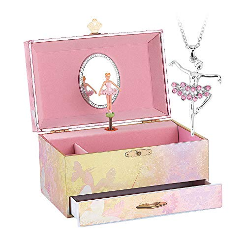 Ballerina Music Jewelry Box with Melody is 'Swan Lake' Pink