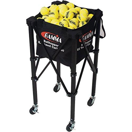 Gamma Trainerbedarf EZ Travel Cart 150 Tennis Ballwagen Schwarz
