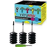 YATUNINK Premium Refill Ink Kit for HP 910 910XL Ink Cartridge Work for HP OfficeJet 8020 OfficeJet 8022 OfficeJet 8025 OfficeJet 8028 OfficeJet 8035 Printer (3x30ML BK)