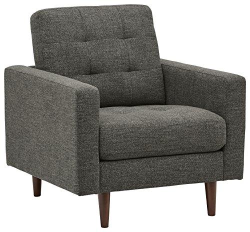 Amazon Marke -Rivet Cove Getufteter Akzent-Sessel im Stil der 1950er Jahre, Dunkelgrau