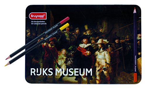 Royal Talens Bruynzeel Rijks Museum Edition, Artists' Set of 50 Design Colored Pencils (5700M50)