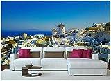 Fototapete 3D Effekt Vlies Design Tapete Bilder Wandbild Modern Dekoration Griechischer Erholungsort Fototapete Schlafzimmer Wandbilder Wohnzimmer