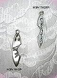 Tribal Tattoo Design Surfboard W Shark Bite Pendant Adj Necklace For Women