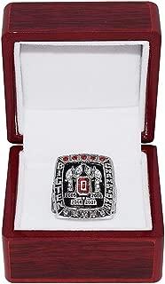 OHIO STATE UNIVERSITY BUCKEYES (Terrelle Pryor) 2008 BIG TEN CHAMPIONS Collectible Replica NCAA Football Silver Championship Ring with Cherrywood Display Box