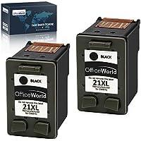 OfficeWorld Remanufacturado HP 21 21XL Negro Cartuchos de Tinta Compatible con HP Deskjet F4180 F2180 F2280 F2290 F380 F335 F390, HP Officejet 4315 4355 Impresora