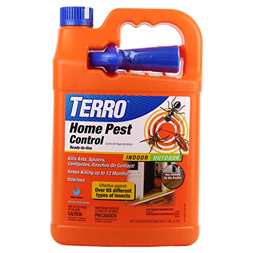 TERRO T3400B Indoor And Outdoor Home Insect Killer, 1 Gallon – Kills Ants, Cockroaches, Spiders, Fleas and Ticks