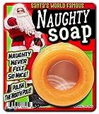 Santa's Naughty Soap – Naughty never felt so nice - Holiday novelty soap for men – yellow circle soap