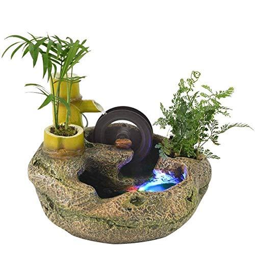 Home Accessories Indoor Relaxationfountain Creative Resin Desktop Fountain Desktop Waterfall Aquarium Flowerpot Home Office Club Decoration Tabletop Water Fountain