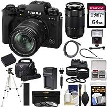 $2569 » Fujifilm X-T4 Mirrorless Digital Camera & 18-55mm XF Lens (Black) + 50-230mm Lens + 64GB Card + Battery/Charger + Case + Flash + Tripod + 2 Lens + Cleaning Kit