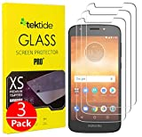 Tektide Screen Protector Compatible for Moto E5 Play Screen Protector, Drop-Protection Shatter-Proof Safety Laminated Tempered Glass Screen Protectors/Display Shields [3 Pack]