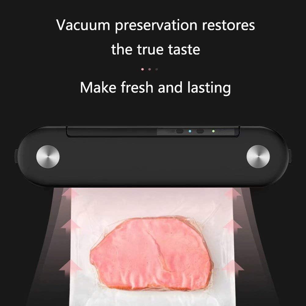 Scelleuse Sous Vide/Design d'Apparence Unique/Avec Modes Sec et Humide/Forte Aspiration/pour la Conservation Des Aliments Secs et Humides/pour la Maison Noir