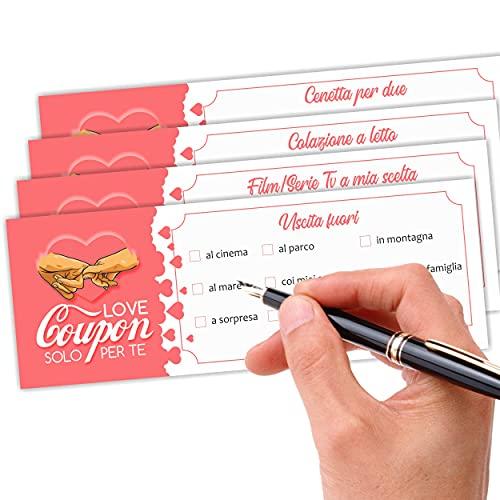 Love Coupon di coppia. Regalo per fidanzato fidanzata amore. Idea regalo per anniversario...