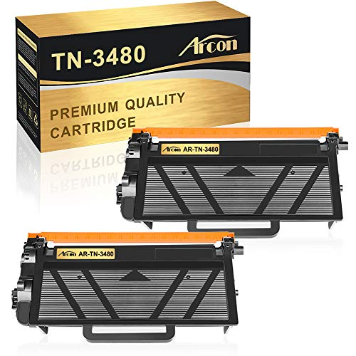 Arcon Kompatibel Toner Cartridge Replacement für Brother TN 3480 TN3480 TN-3480 Toner Brother HL-L5100DN HL-L5100DNT HL-L5000D HL-L5200DW MFC-L5750DW MFC-L5700DN MFC-L6800DW DCP-L5500DN Toner 2 Packs