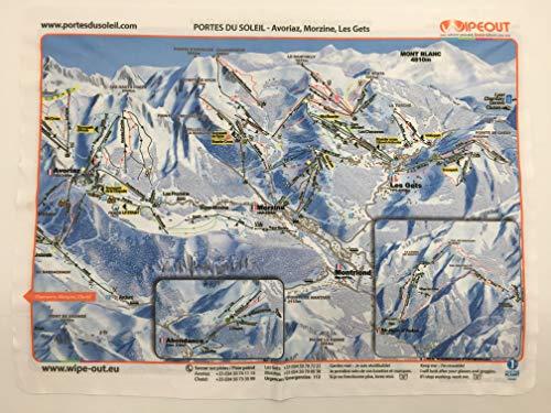 Wipeout - Paño limpiagafas, diseño de mapa de pista de los Alpes y La Grave