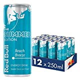 Red Bull Energy Drink Summer Edition, Beach Breeze, Dosen Getränke, 12er Pack (12 x 250 ml)