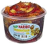 Haribo Millepiedi XXL, Caramelle Gommose alla Frutta, 30 Pezzi, Barattolo da 1200g