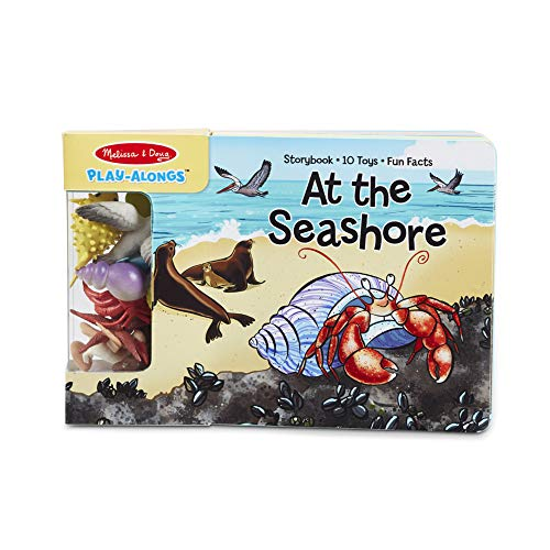 Melissa & Doug Children's Book - Play-Alongs: At the Seashore (10 Pages, 10 Sea Creature Toys)