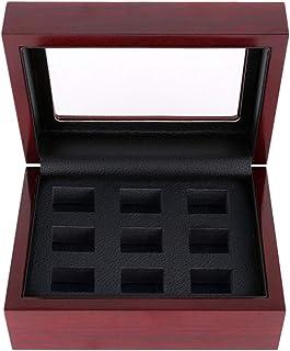 Ecomspace Women Ring Box Championship Ring Box Jewelry Earring Pills Holder 9 holes