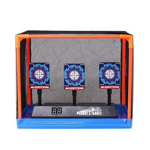 Urben Life Zielscheibe für Nerf, Kinder Elektrische Ziel Toy Gun Schießen Scoring Automatische Wiederherstellung Zubehör für Nerf Soft Bullets Schießspiele, Kinder