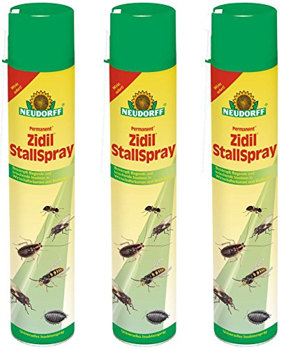 3 x 750 ml Neudorff Permanent Zidil StallSpray Insektenspray