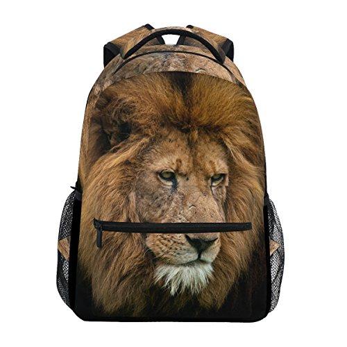 COOSUN Retrato de Rey león Casual Mochila Escolar Bolsa de Viaje de