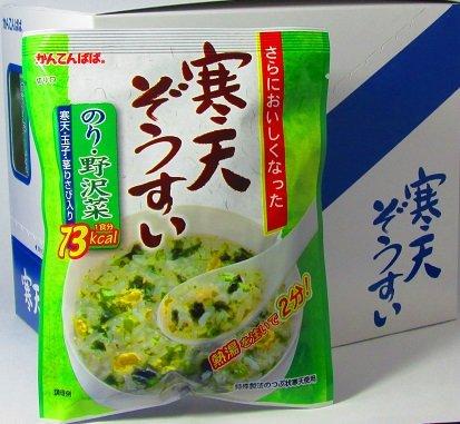 かんてんぱぱ 寒天ぞうすい のり・野沢菜(21gX10袋セット) 2個セット