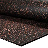 IncStores 1/4' Tough Rubber Roll (4' x 10') - Excellent Gym Floor mats for Medium/Large Equipment and Light/Moderate Free Weights (1 Mat - 4'x10' Brick Red)
