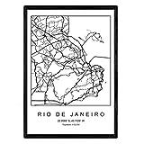 Blatt Karte von der Stadt Rio de Janeiro im skandinavischen