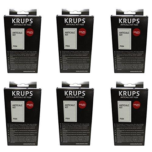 Krups F054 Lot de 6 sachets de poudre détartrante 2 sachets de 40 g