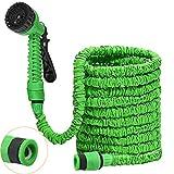 DAMIGRAM Flexibler Gartenschlauch, 25FT FlexiSchlauch Wasserschlauch Schlauch Flexi Dehnbarer Wasserschlauch Flexi Wonder Gartenteich Schlauch Bewässungs (Green)