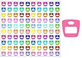 2 SHEET SET Weight Scales Planner Stickers ST029