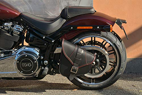 mächtig Harley Davidson Softail 2018-2020 Lowrider S, Fat Bob,… Ledersatteltasche Swing Bag